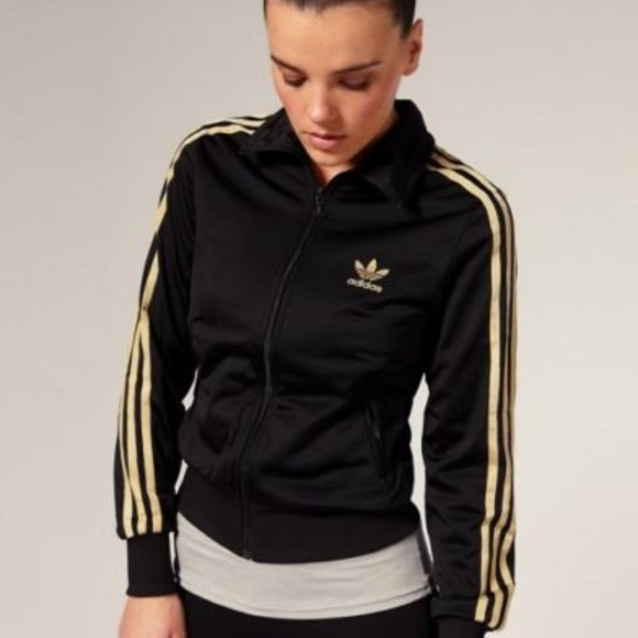 black and gold adidas jacket